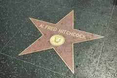 Alfred Hitchcock gwiazda w Hollywood spacerze sława Fotografia Stock