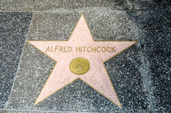 Alfred Hitchcock's Star on Hollywood Boulevard, Los Angeles Stock Photography