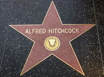 Alfred Hitchcock's star on Hollywood Walk of Fame Royalty Free Stock Photos