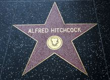 Alfred Hitchcock`s Star, Hollywood Walk of Fame - August 11th, 2017 - Hollywood Boulevard, Los Angeles, California, CA stock photos