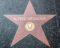 Alfred Hitchcock Star on the Hollywood Walk of Fame Royalty Free Stock Image