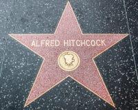 Alfred Hitchcock Star sulla passeggiata di Hollywood di fama immagine stock libera da diritti