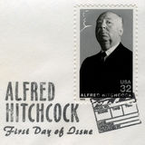Alfred Hitchcock US Postage Stamp Royalty Free Stock Photo