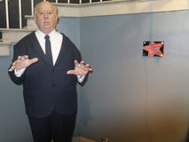Alfred Hitchcock wax statue Stock Image