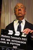 Alfred Hitchcock-waxwork cijfer stock afbeeldingen