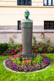 Alfred Nobel Statue Photographie stock