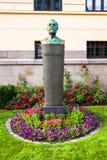 Alfred Nobel Statue Fotografia Stock
