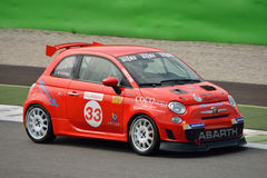 Alfredo Di Cosmo Abarth Trophy 2015 Fiat 500 at Monza Stock Images