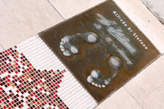 Alfredo Di Stéfano's footprints Stock Image