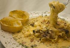 Alfredo Spaghetti Imagem de Stock
