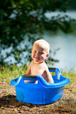 Alfresco bathing Stock Image