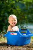Alfresco bathing Royalty Free Stock Photo