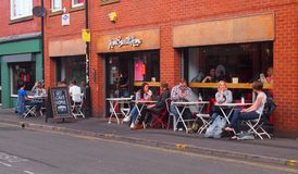 Alfresco Dining in the Northern Quarter, Manchester, UK Royalty Free Stock Photography
