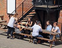 Alfresco dining, Nottingham. Royalty Free Stock Images