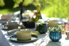 Alfresco dining Royalty Free Stock Images