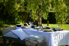 Alfresco dining Stock Images
