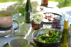 Alfresco dining Royalty Free Stock Photography