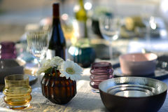 Alfresco dining Stock Photography
