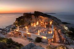 Alfresco dinner, Thassos island, Greece Royalty Free Stock Photography