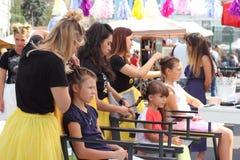 Alfresco female beauty salon Stock Photos