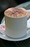 alfresco kaffe Arkivbild