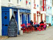 Alfresco, Kingsand, Cornwall, UK. Royalty Free Stock Photography