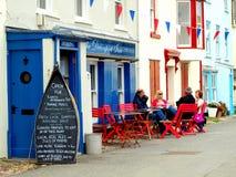 Alfresco, Kingsand, Cornwall, UK. Royalty Free Stock Photography