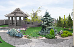Alfresco living area, 3d render Stock Images