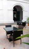 alfresco område som äter middag den utomhus- restaurangen Royaltyfri Fotografi