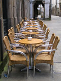 Alfresco sidewalk dining cafe  Royalty Free Stock Photography