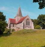 Alfriston Gemeinde Kirche Stockbild