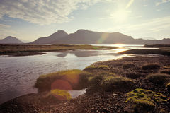 Alftavatn湖,冰岛 库存图片