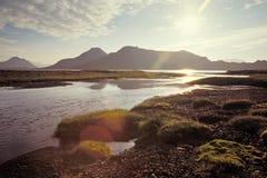 Alftavatn lake, Island Arkivbilder