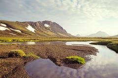 Alftavatn lake, Island Arkivfoton