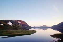 Alftavatn lake, Island Arkivbild