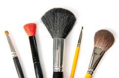 Algún cepillo del maquillaje fotos de archivo libres de regalías