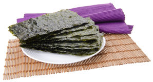 alga alga asciutta su fondo Fotografie Stock Libere da Diritti