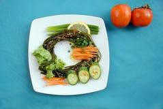 Alga con le verdure Immagini Stock