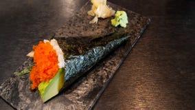 Alga deliciosa com alimento do japonês do arroz Imagem de Stock