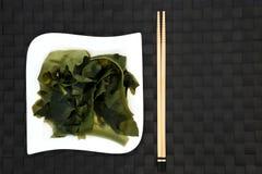 Alga di Wakame del giapponese Fotografia Stock