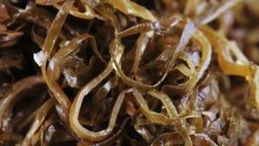 Alga marina comestible en bulto almacen de metraje de vídeo