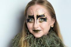 Alga marina de la cara de la muchacha fotos de archivo libres de regalías