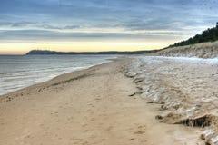 Alga marina en la playa escénica foto de archivo libre de regalías