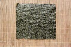 Alga marina secada y presionada del nori foto de archivo libre de regalías