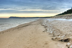 Alga na praia cénico foto de stock royalty free