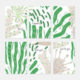 Alga subacquea astratta punteggiata illustrazione vettoriale