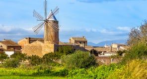 Algadia, Mallorca, Spain, December An old windmill in the city. Algadia, Mallorca, Spain, December 17, 2018 An old windmill in the city royalty free stock images