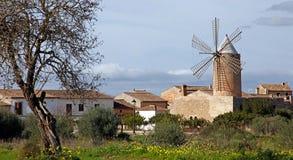 Algadia, Mallorca, Spain, December An old windmill in the city. Algadia, Mallorca, Spain, December 17, 2018 An old windmill in the city stock image