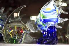 Mallorca. Algaida Es Pla, Majorca / Spain - August 25, 2016: A colorful fish created at handmade glass manufacturing factory Guardiola, Algaida Es Pla, Mallorca royalty free stock photos