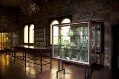 Mallorca. Algaida Es Pla, Majorca / Spain - August 25, 2016: The glass museum at manufacturing factory Guardiola, Algaida Es Pla, Mallorca, Balearic Islands royalty free stock photos